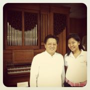 Cecilio Pedro, CEO Lamoiyan corporation with  the lovely bamboo organ as our background