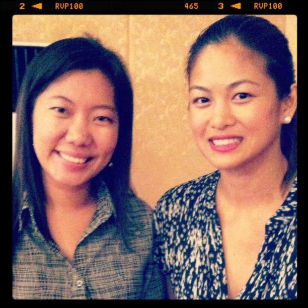 with Filipina beauty queen and philantropist Miriam Quiambao