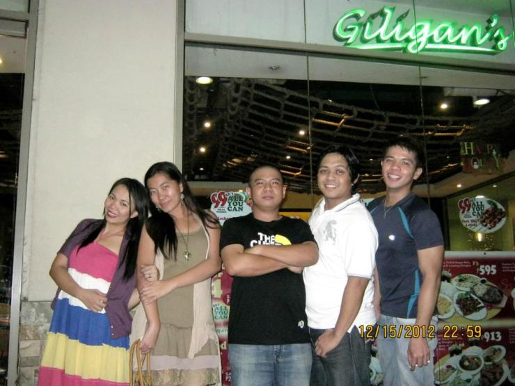 with Lucky, Dior, Jericho and Julius at Giligan's TriNoma