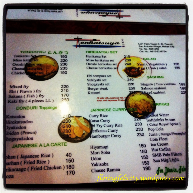 I grabbed a copy of the menu for you ;)