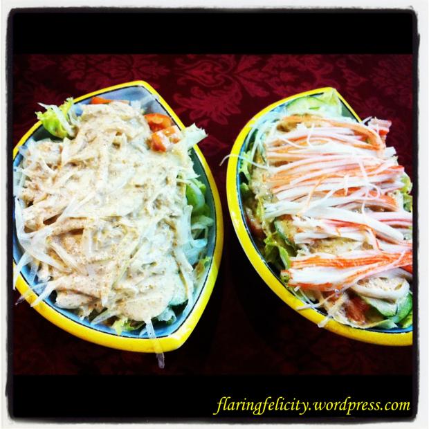 Yasai (vegetable) and Kani (crab) salad