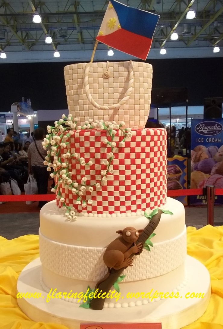 Handmade native bags, sampaguita and the tarsier: some Filipino symbols which accentuated the cake