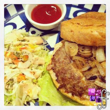 Generous serving of Breton Mozarella burger