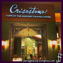 Crisostomo has a classy, vintage Filipino interior you could boast to your foreign guests