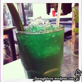 I love Kitchen's refreshing pandan juice!
