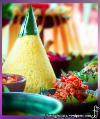 Rijstafel is an Indonesian meal consisting of rice served with a large array of small dishes of meat, poultry, seafood, vegetables, and condiments.