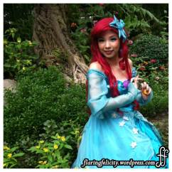 Disney Princess Ariel selected a nice spot to hang out in the middle of the forest. Guess she got tired of the waters.