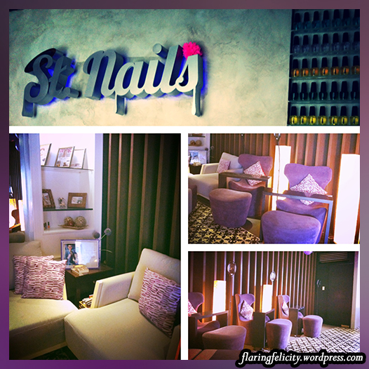 I love the lush lavander interior and comfy couches of St.Nails! <3 :)