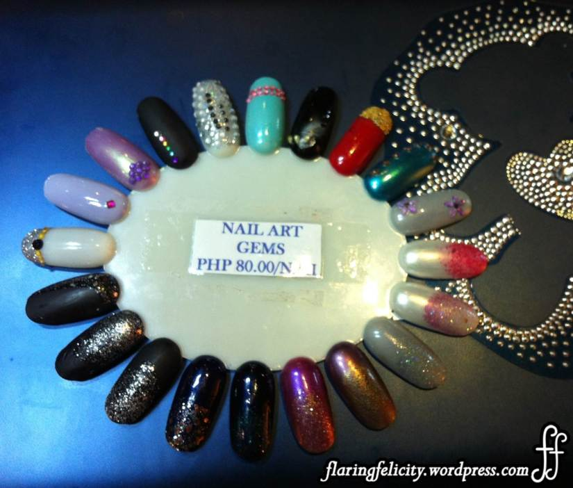 I like jewels on my nails! Going for one of these gem arts.