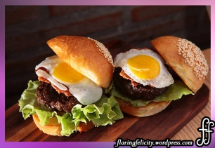 Sunny Side Up Burger Slider