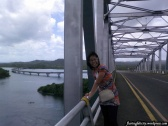 The San Juanico bridge is the number one tourist spot in Leyte. It's the longest bridge in the Philippines at with a length of 2.162 km. and 10.620meters width. No, I didn't take this photo when Typhoon Haiyan visited the country. It was just a windy day then.