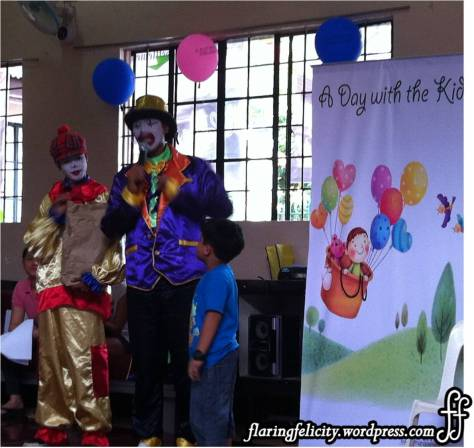 Kids enjoyed games and magic show hosted by two charming clowns at the event