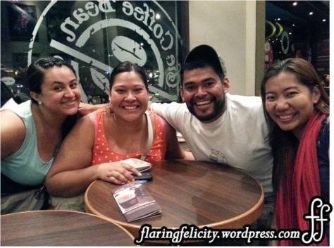 Ruby, Valeria and Jaime at CBTL Manila