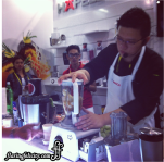 Chef making some fruit juices