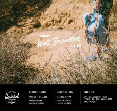 Herschel's well traveled launch invite
