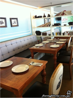 Stylish wood furnitures makes you feel like dining in a typical Filipino home.