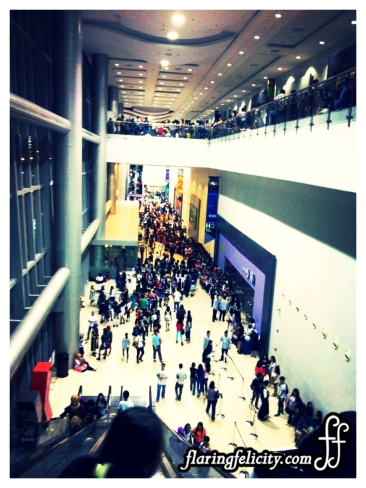 Cosplay Mania 2014 participants fill-up two floors of the venue.