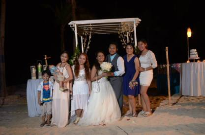 Mabelle Formaran- Bajada's Wedding day with Rika Roman and Kids, Tara Dingson, Donna De Leon and Myself.